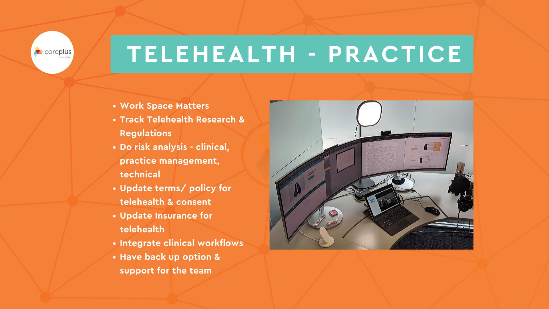 TeleHealth WorkFlow and SetUp
